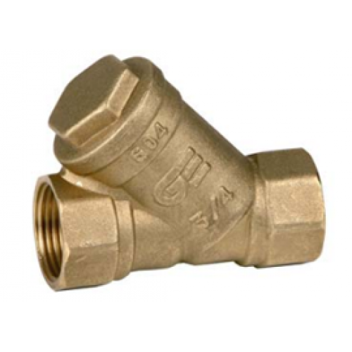 """3302 11 DN80 (3"""") PN16 Фильтр сетчатый GENEBRE корпус-латунь уплотнение-NBR, ВР/ВР"""